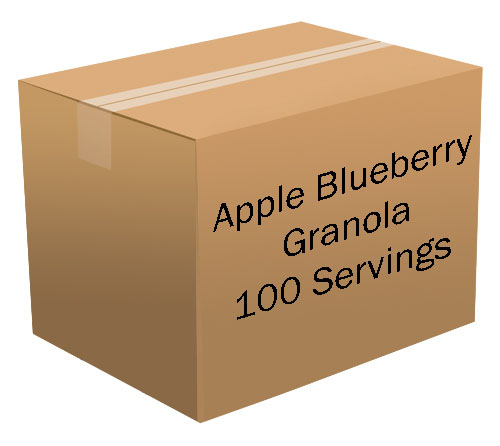 Apple Blueberry Granola <br> 100 Servings! <br> Free Shipping!!! </br>