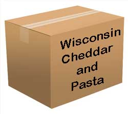 Wisconsin Cheddar and Pasta Bucket <br> 60 Servings! <br> Free Shipping!!! </br>