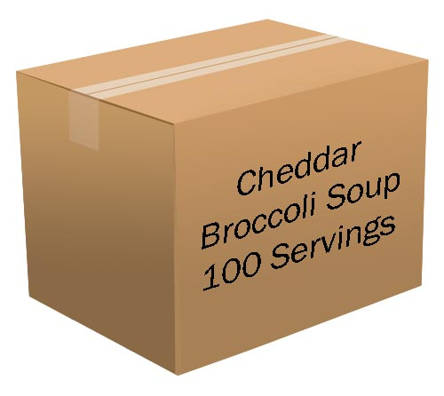 Cheddar Broccoli Soup <br> 100 Servings! <br> Free Shipping!!! </br>