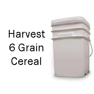 Harvest 6 Grain Cereal Bucket <br> 80 Servings! <br> Free Shipping!!! </br>