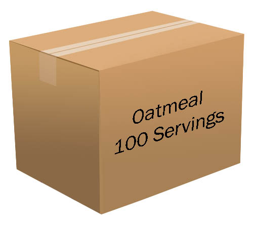 Oatmeal <br> 100 Servings! <br> Free Shipping!!! </br>