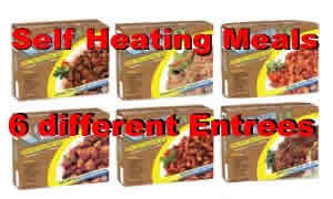 12 pack of Self Heated MRE Entrees<br> 5 Year Shelf Life<br>Free Shippping!