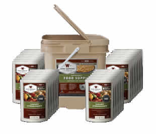 120 Serving Bucket (Entrees Only)<br>25 Years Shelf Life<br>Free Shipping!