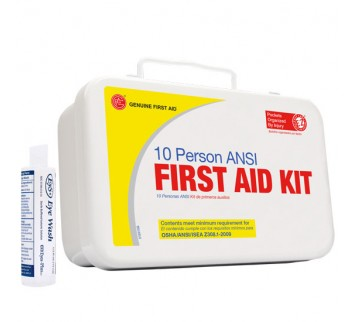 10 Person ANSI First Aid Kitwith Eyewash (Plastic