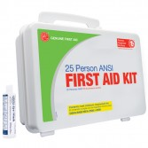 25 Person ANSI First Aid Kit with Eyewash (Plastic)