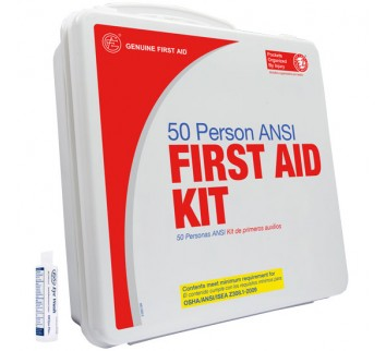 50 Person ANSI First Aid Kit with Eyewash (Plastic)