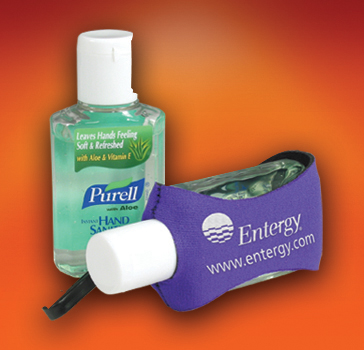 2oz. Purell with Aloe Sanitizer in a Clip