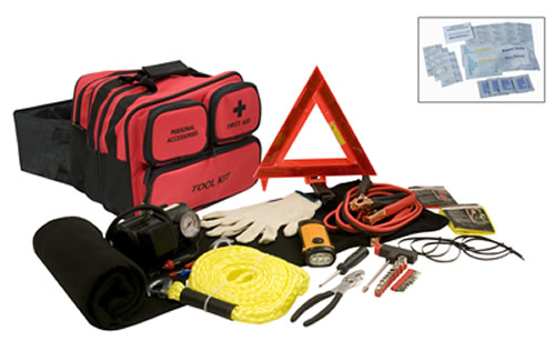 Premium Car Emergency Kit with Dynamo Flashlight