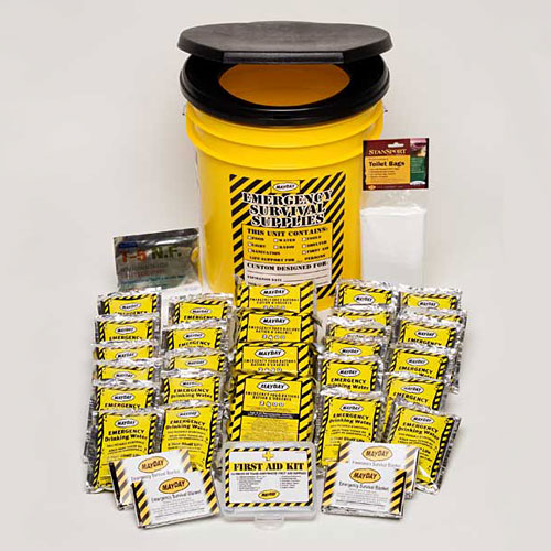 4- Person Economy Honey Bucket Kit - 72 hours kit
