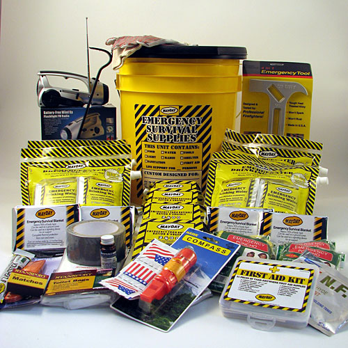 4 Person Deluxe Emergency Honey Bucket Kit