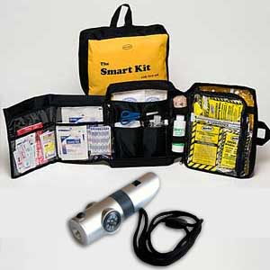 65 Pieces Emergency Kit with 7-in-1 Whistle<br>Emergency Food And Water