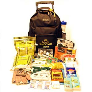Roll and Go Survival Kit on Wheels - 1 Person