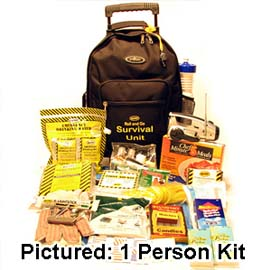 Roll and Go Survival Kit on Wheels - 2 Person
