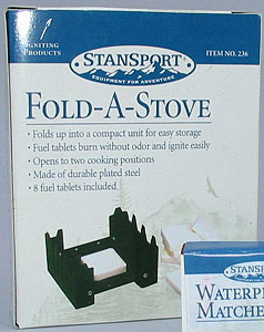 Portable Stove with 16 Fuel Tablets set of 4