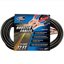 12' Light Duty Booster Cables - 10GA
