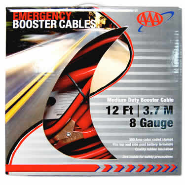 AAA  12 Ft 8 Gauge Booster Cables