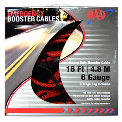 AAA  16 Ft 6 Gauge Booster Cables