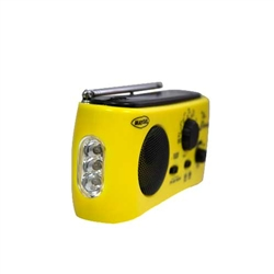 Dynamo and Solar Powered AM/FM/NOAA Radio/Flashlight