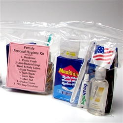 13 Piece Personal Hygiene Kit (Female)