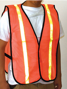 Orange Safety Vest - 10 pack
