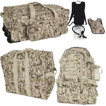 MARPAT DESERT Deluxe Hydration Deployment Kit <br> FREE SHIPPING!