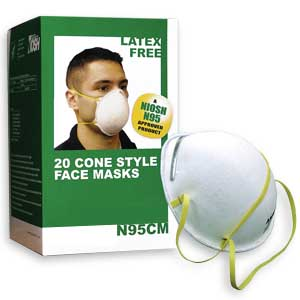 N95 Rated Face Masks - Case of 240