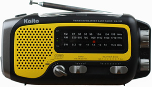 AM/FM/SWA/Flashlight Dynamo and Solar Powered Radio - FREE SHIPPING!