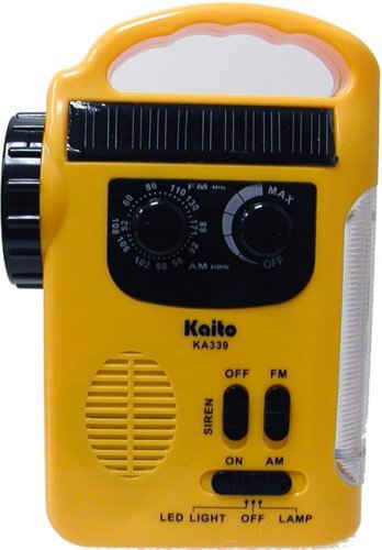 Solar & Crank AM/FM Emergency Radio with LED Lantern & Flashligh