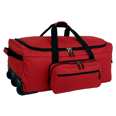 Red Wheeled Deployment Bag<br>Free Shipping!