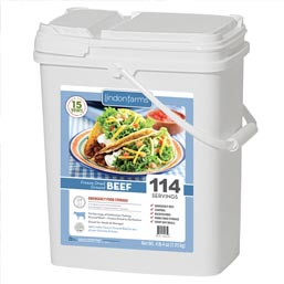 114 Servings Freeze Dried Ground Beef <br>Real Meet!<br>15+Years Shelf Life!<br> Free Shipping!!!