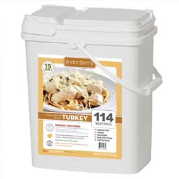 114 Servings Freeze Dried Diced Turkey <br>Real Meat!<br>15+Years Shelf Life!<br> Free Shipping!!!
