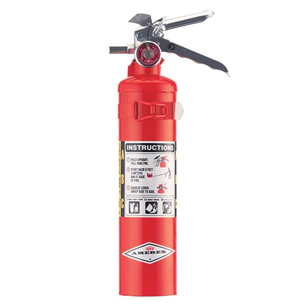 Amerex 2.5 lb ABC Extinguisher w/ Aluminum Valve & Vehicle Bracket