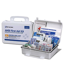 25-Person ANSI-2015 Class A+ Weatherproof First Aid Kit, Metal
