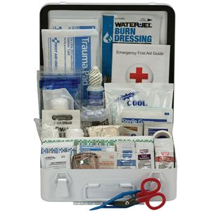 50-Person, 183-Pc ANSI-2015 Class A+ Weatherproof First Aid Kit, Metal