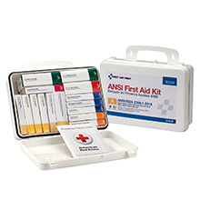 25-Person, 16-Unit ANSI ANSI-2015 Class A Weatherproof First Aid Kit, Metal