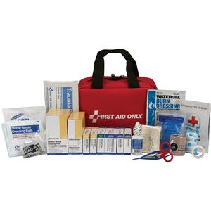 50-Person, 225-Pc ANSI-2015 Class A+ First Aid Kit, Soft Pouch