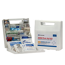 50-Person,183-Pc ANSI-2015 Class A+ First Aid Kit, Plastic