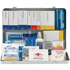 50-Person, 254-Pc ANSI-2015 Class A+ Weatherproof Contractor First Aid Kit, Metal