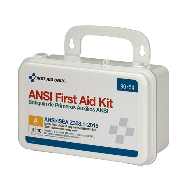 10-Person Bulk ANSI-2015 Class A Weatherproof First Aid Kit, Plastic
