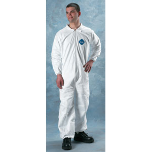 Zippered Front, Elastic Wrists & Ankles Tyvek Coveralls, 4XL, 25/Case