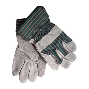 Green/Pink Stripe Fabric Back Gloves