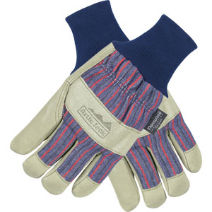 Artic Jack Grain Pigskin, Thinsulate Lined Gloves w/Knit Wrist