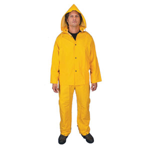 3-Pc Suit w/ Detachable Hood & Bib Pants, Yellow, 2XL