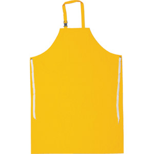 .35mm Yellow PVC/Poly Apron w/Sewn Edge, 48&#34 x 35&#34