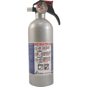 Kidde Automotive 2 lb BC Fire Extinguisher w/ Nylon Strap Bracket (Disposable)