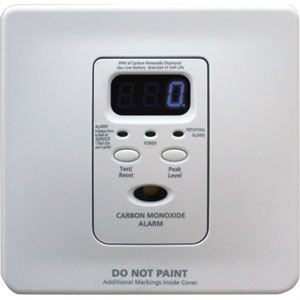 Silhouette AC/DC CO Alarm w/Digital Display