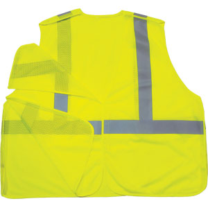 GloWear Econo Breakaway Vest, Lime, L/XL