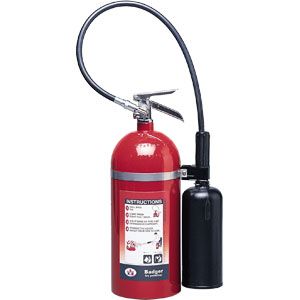 Badger Extra 10 lb CO2 Fire Extinguisher w/ Wall Hook