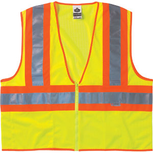GloWear Two-Tone Vest, Orange, 2XL/3XL