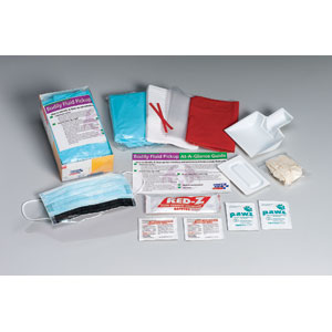 16-Piece Bodily Fluid Clean-Up Kit, Disposable Tray